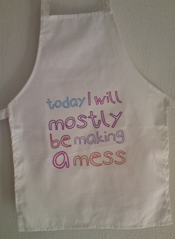 Childrens Cooking Aprons by snolbertogoster on Etsy, $15.00