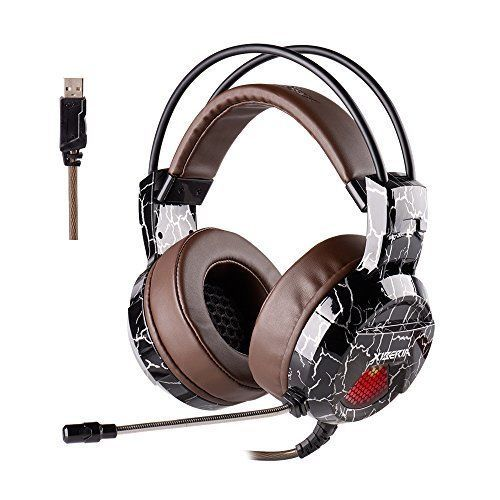 Gaming Headset with Mic Wired Surround Sound Computer Headphones Noise Canceling #GamingHeadsetwithMicrophone