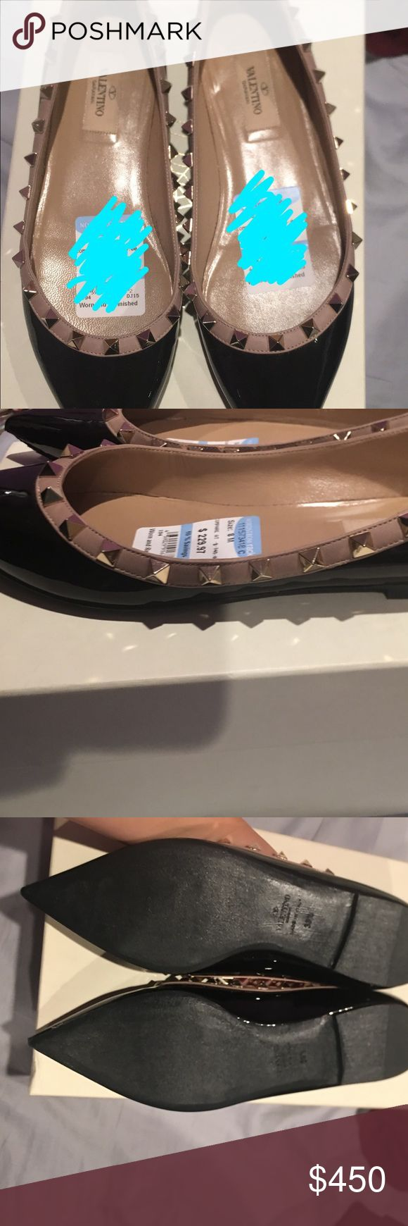 Valentino Rockstud flats Black and Tan flats no studs missing. Never worn. Price negotiable Valentino Shoes Flats & Loafers