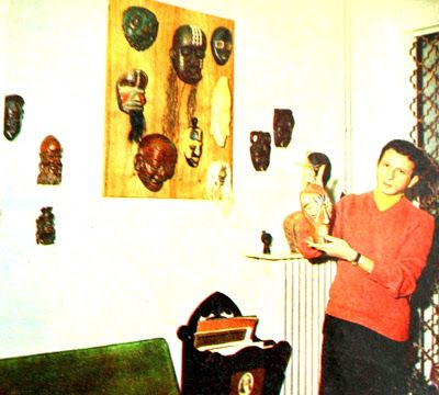 Haldun Dormen ve maske sergisi 1970.