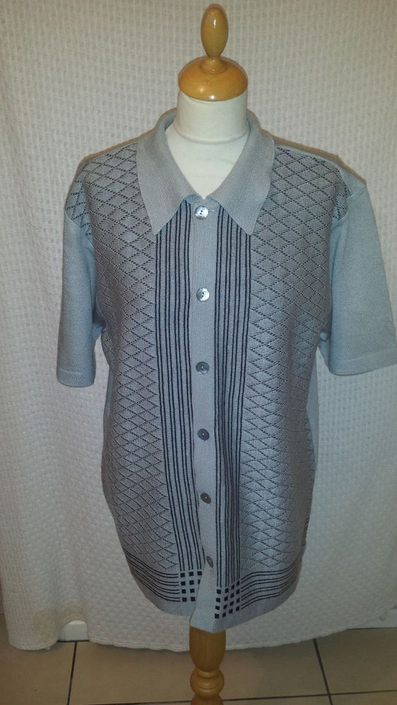 MENS 70s VINTAGE ROCKABILLY STYLE SHIRT TOP  size M chest 42