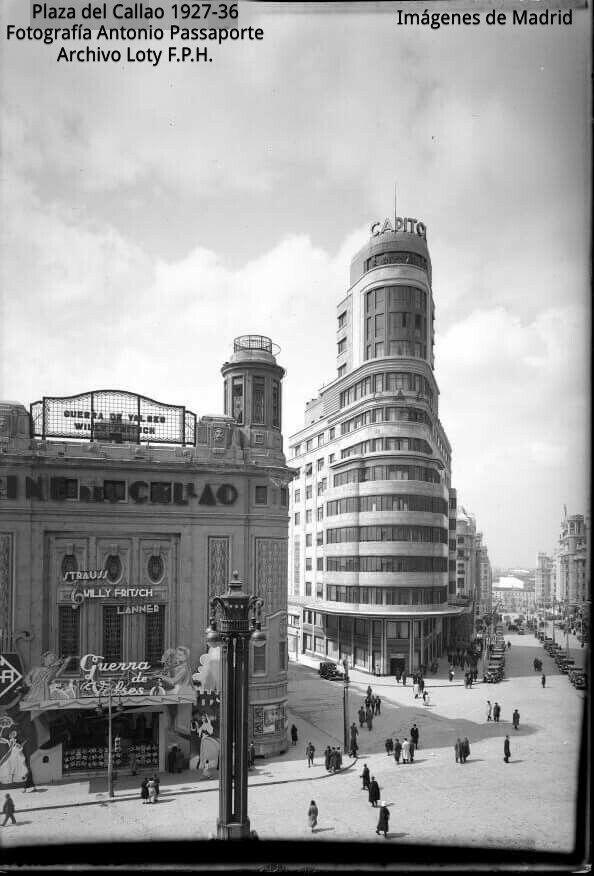 Plaza del Callao, Edificio Capitol y tercer tramo de la Gran Via