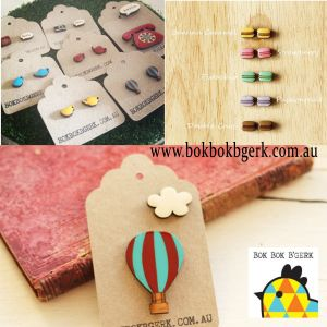 Awesome Earrings and Brooches by Bok Bok B'Gerk