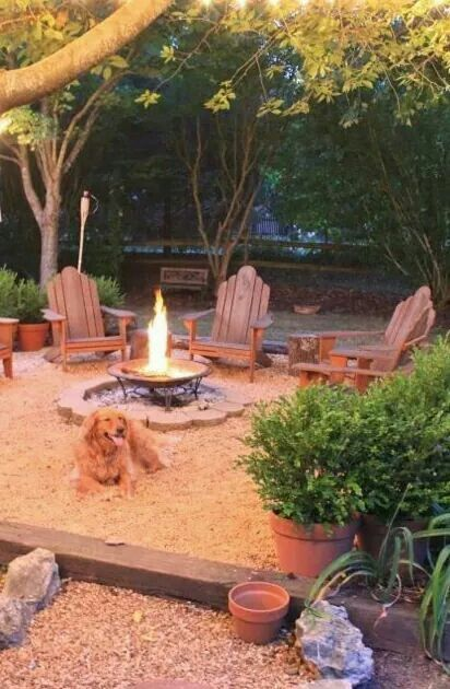 Cool backyard idea! Like being at the beach.