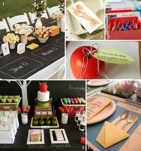 Chalk board Table Placemats from School Themed Wedding Inspiration (part 1)