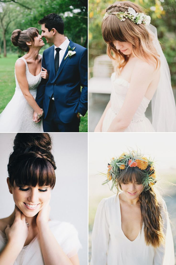 Must read tips for wedding hairstyles with full fringe (bangs ...