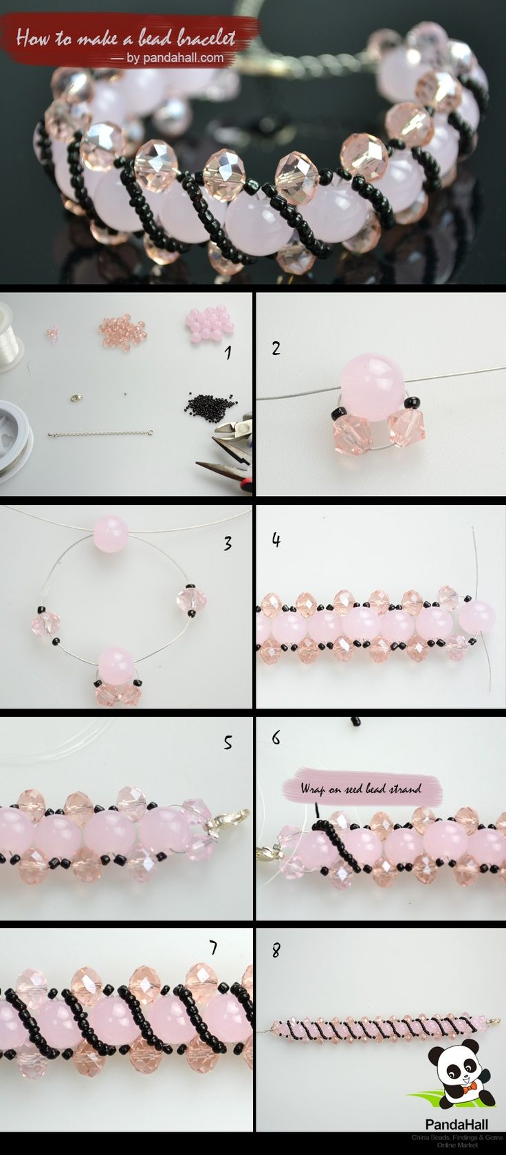 Pretty bead bracelet :: Simple process with results that look complicated. Detailed written instructions at this link ~  ... pinned with Pinvolve - pinvolve.co