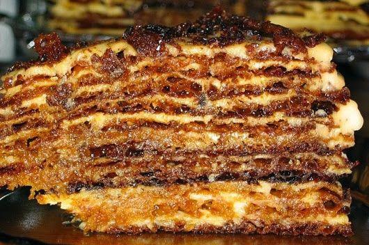 Золотистый медовый торт  Просто обожаю медовый торт, а это один самых простых…
