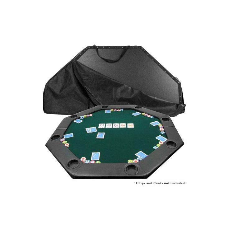Trademark Poker Octagon Padded Poker Table Top, Green