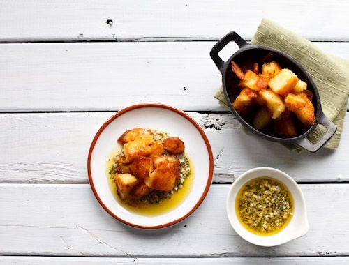 Roast Potatoes and Sauce Gribiche | POTATO ... | Pinterest | Roasts ...