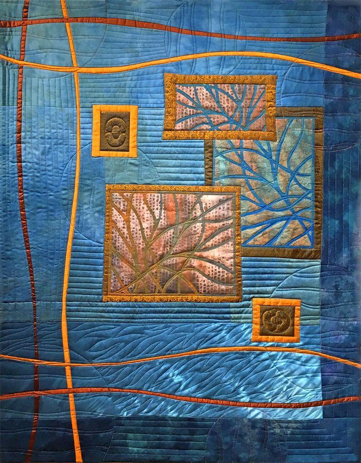 Art Quilt - Autumn Windows Rachel Derstine