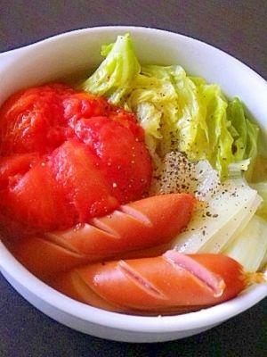 楽天が運営する楽天レシピ。ユーザーさんが投稿した「冷凍トマトのまるごとポトフ」のレシピページです。冷凍保存しておいたトマトを使ってポトフにしました。冷たくしても美味しいです。。春キャベツ,トマト,玉ねぎ,水,固形ブイヨン,白ワイン,ウィンナー