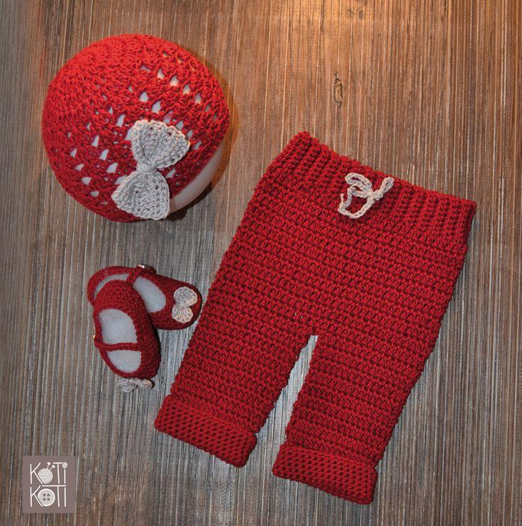 Conjunto para bebé, tejido a mano