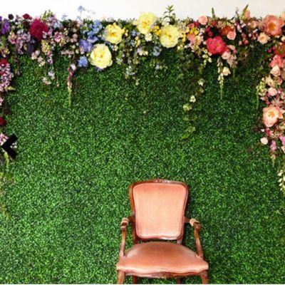 11 Sq ft. | 4 Panels Artificial Boxwood Hedge Genlisea Foliage Green Garden Wall Mat