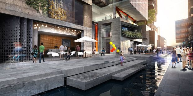 A touch of Venice is about to hit Auckland as plans progress for a new canal to be dug through the centre of Auckland's Wynyard Quarter
