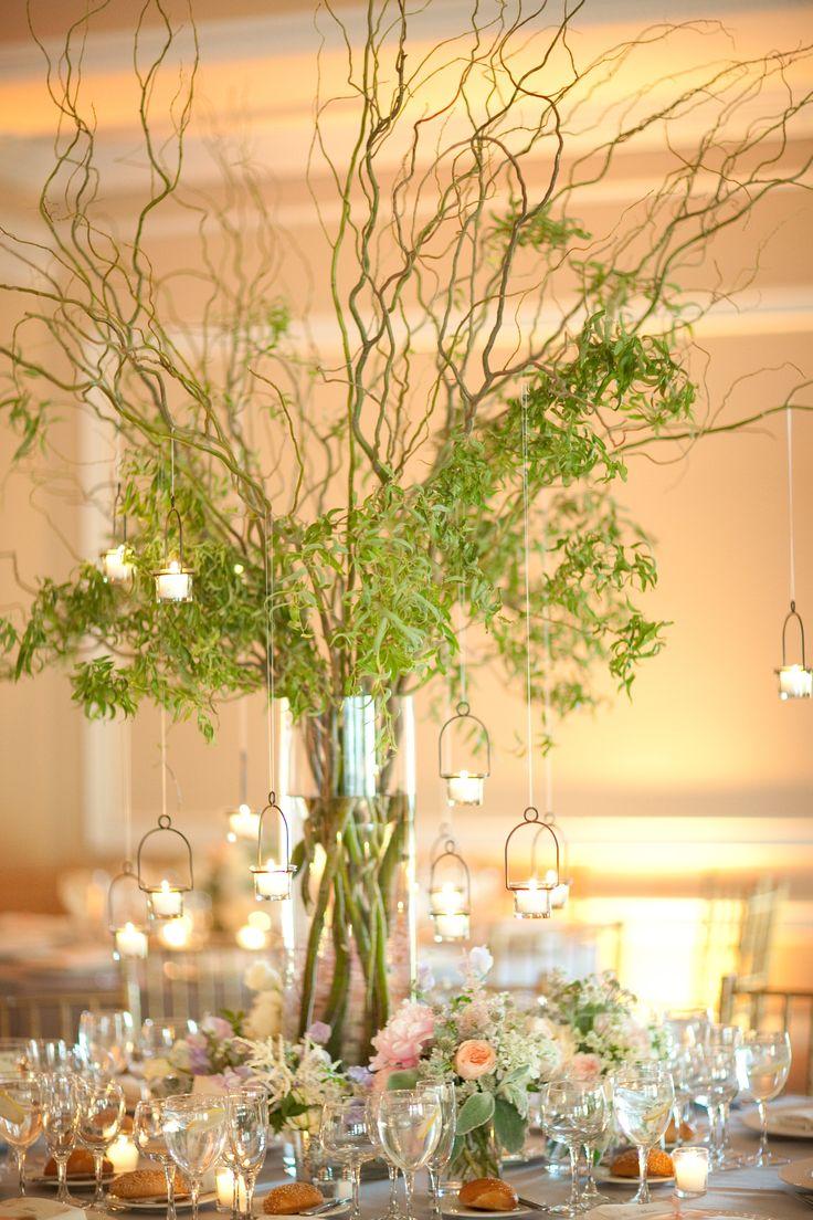 Vine Centerpieces with Hanging Votive Candles  Caroline