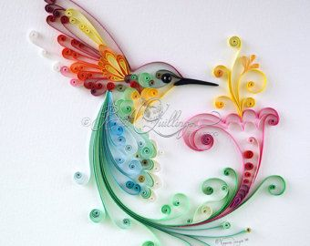 Original Quilling Art: Bird of Happiness by BestQuillings on Etsy