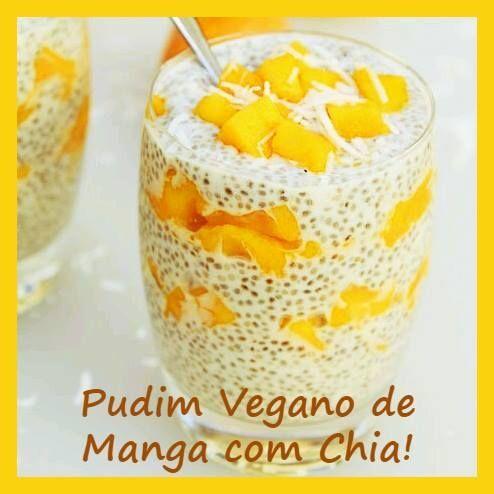Ingredientes Pudim Vegano: 200ml de leite de coco, 3 colheres de sopa de semente de chia, 2 colheres de sopa de coco ralado fino, 1 colher de sopa de ...