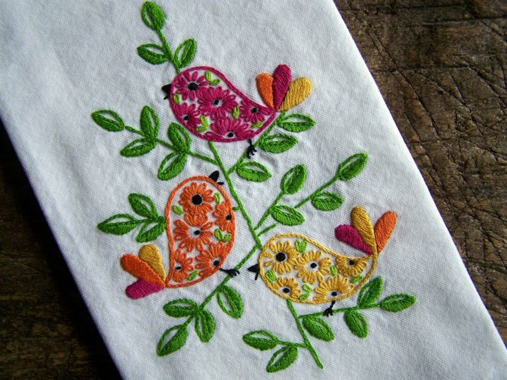 Embroidery. Discussion on LiveInternet - Russian Service Online Diaries | abstract birds