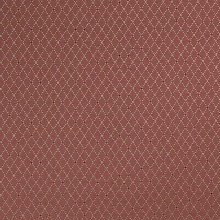 Warwick Fabrics : CASSIA, Colour MERLOT