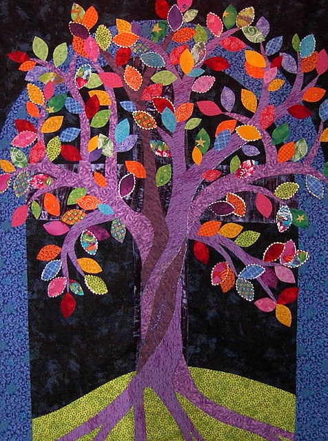 Tree of Life quilt Shared by www.nwquiltingexpo.com @NWQuilting Expo #nwqe #quilting