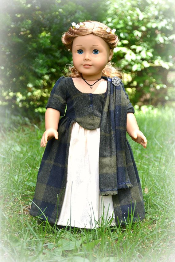 Doll Dress Colonial Wedding Gown Scottish Highlander for American Girl 18 inch doll