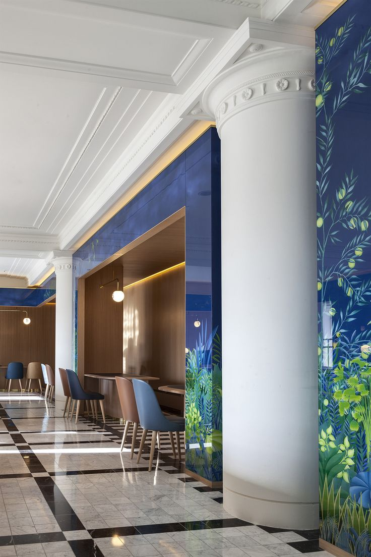 265 best wall murals images on pinterest wall murals the west hall lobby and reception in london gb by waldo studio