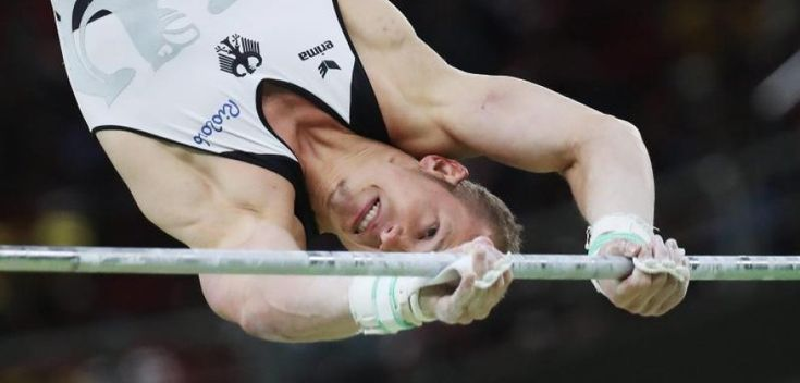 Fabian Hambüchen in seinem Element: Am Reck holte der Turner in Rio Olympia-Gold. Foto: dpa