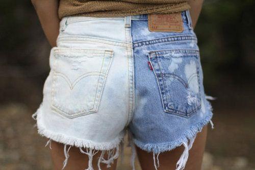 DIY dye shorts