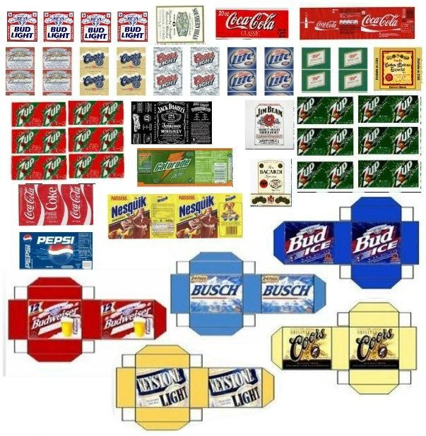 Diy Drinks Food Printables: Free 1 6 Scale Printables - WOW.com - Image Results