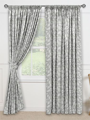 Toscana Pearl Grey Curtains from Curtains 2go