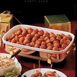 ham balls - weird name but my best friend's grandma when i was little made these all the time and they were the bomb. we will see if they compare.