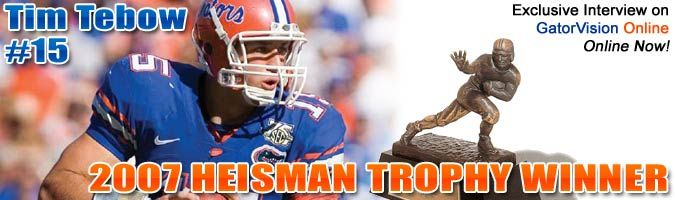 Tim Tebow's Gatorzone page