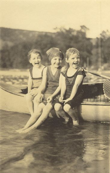 Summer, 1930 - I don't know who they are, I just love old photographs, esp when they are happy.