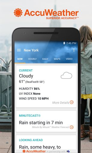 AccuWeather Platinum v5.2.1-paid   AccuWeather Platinum v5.2.1-paid Requirements:4.1 Overview:Stay connected to the latest weather conditions with AccuWeather. Now supporting Android Wear this free app features the new AccuWeather MinuteCast the leading minute-by-minute precipitation forecast hyper-localized to your exact street address. AccuWeather offers the same Superior Accuracy and great experience across all Android smartphones and tablets and Android Wear.  Weatherproof your day for…