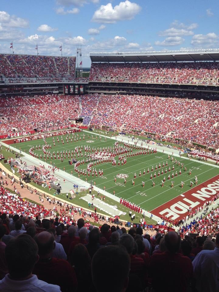 University of Alabama's Million Dollar Band entertains the crowd at the Alabama/Florida game 9/20/14.