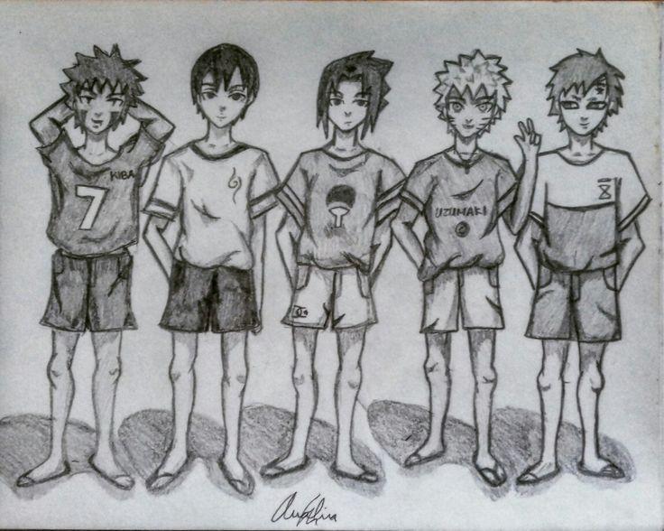 Kiba,Sai,Sasuke,Naruto,Gaara