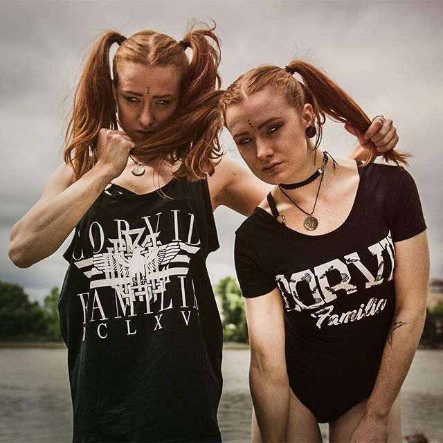 """Corvid Familia"" Body Suit & ""Corvid Fam"" Tank Top Available at www.crmcclothing.co 