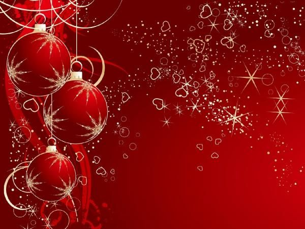 Red christmas background - Christmas is coming, the bells are ringing. Which color wallpaper will you use to decorate your desktop, iPad or iphone for celebrating the major festival? The answer may be Red.