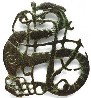 Urnes style Dragon pendant from the Viking age  10th century CE, Norway  I LOVE THIS!!!
