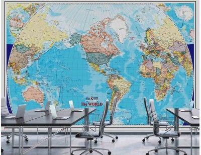 12 best maps and flags wallpaper murals murales en papier peint de mural world map english version a wallpaper mural from muralunique gumiabroncs Choice Image