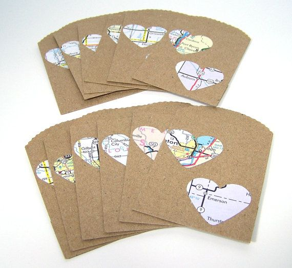 Small Wedding Gift Bag Ideas : Mini Paper Gift Bags, Small Wedding Party Favors, Map Love, Recycled ...