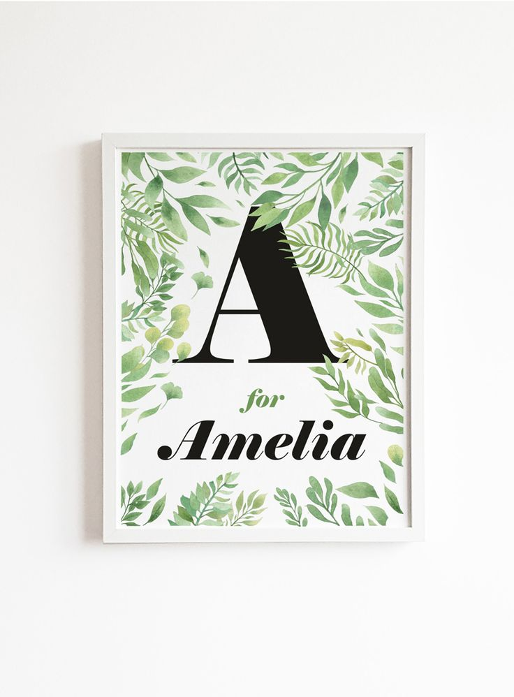 Personalized girl name print in floral style - nursery nordic decor. #personalized #girlnameprint #nameprint #babygirl #babygirlgift #nurserydecor #girlbedroom #nordic #scandinavian  #floral