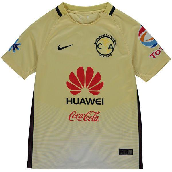 Club America Nike Youth Home Stadium Performance Jersey - Yellow - $74.99