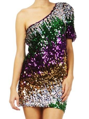 Green Purple Gold Dress