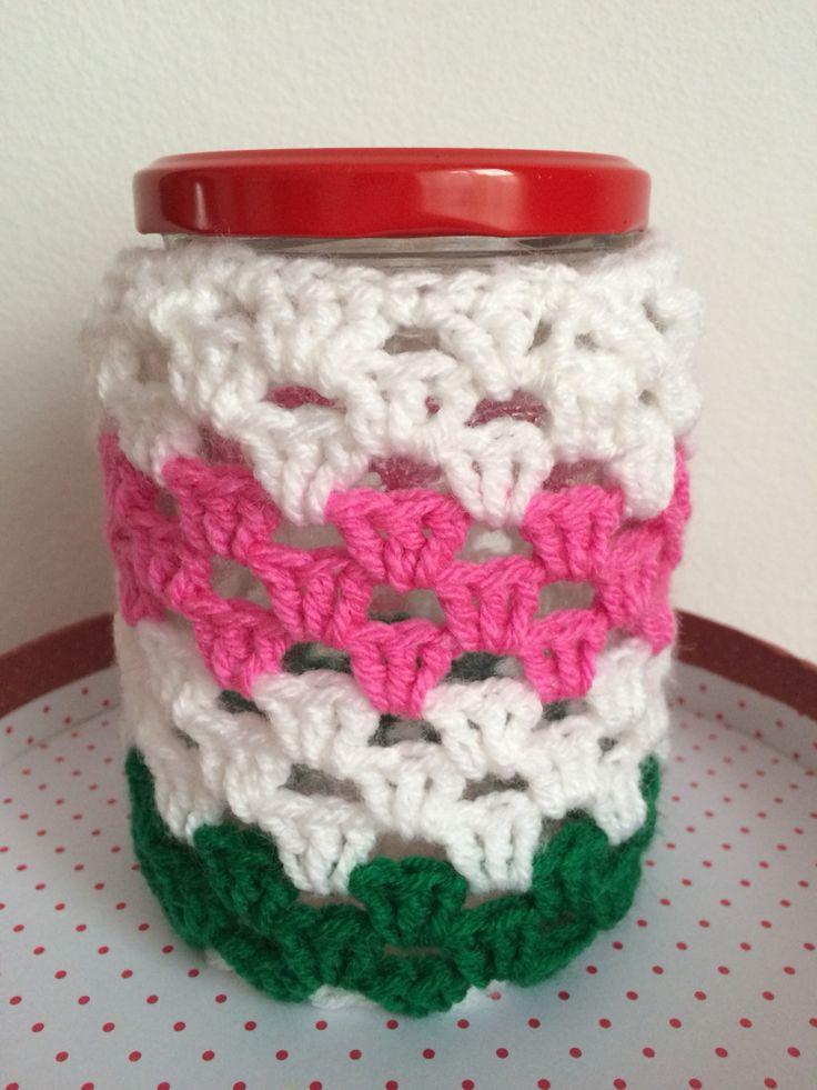 Crochet jar cover 2