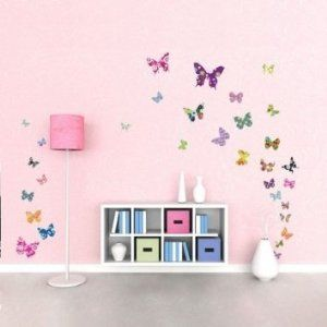Decowall DW-1201, 38 Colourful Butterflies Wall Stickers /wall decals/wall transfers/wall tattoos/wall sticker: Amazon.co.uk: Kitchen & Home