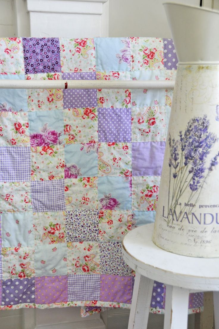pretty colors in this lavender quilt