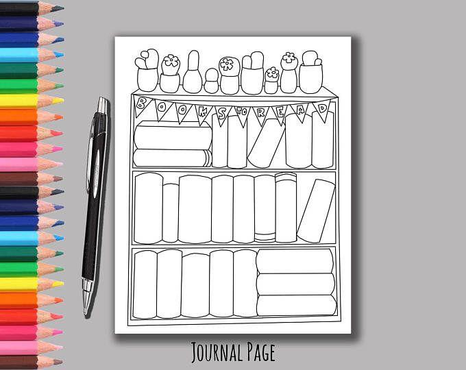 Bullet Journal - Bookshelf - Books - Reading - Printable ...