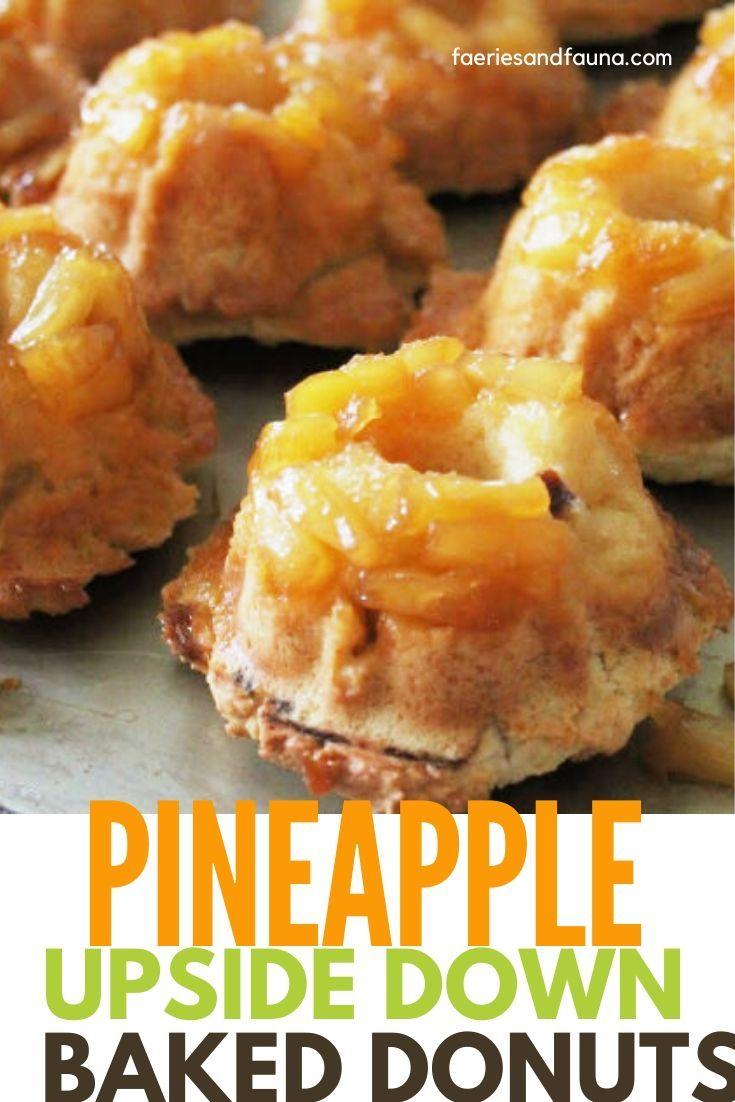 Pineapple Upside Down Baked Sour Cream Donuts Recipe Recipe In 2020 Sour Cream Donut Recipes Baked Sour Cream Donut Recipe